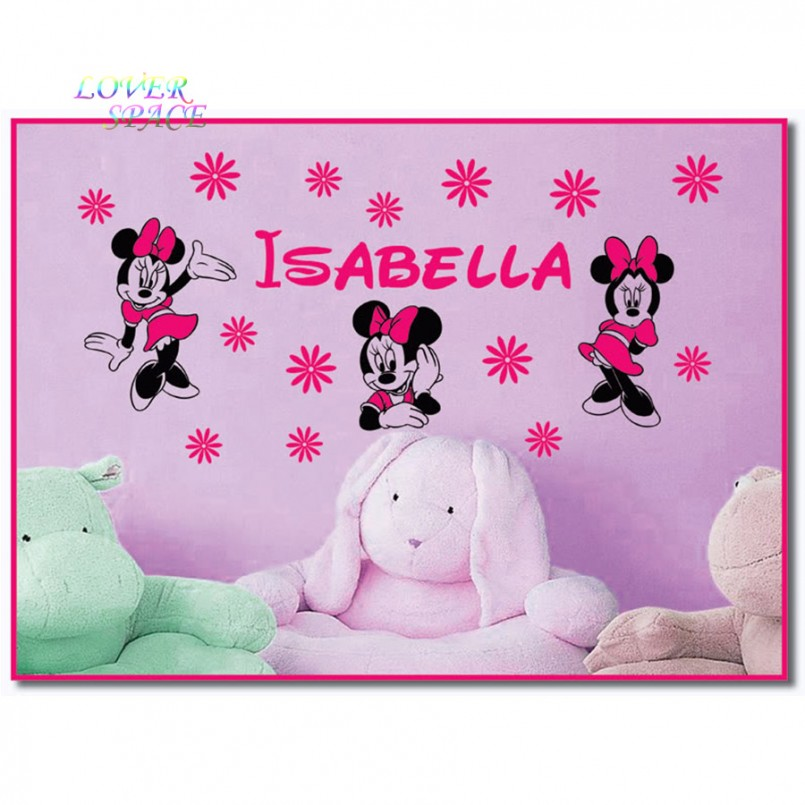 Wall Decals Minnie Mouse | Minnie Mouse Wall Decor | Minnie Mouse Dresser